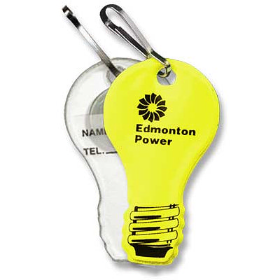 Imprinted Light Bulb Zipper Pulls From Csgear